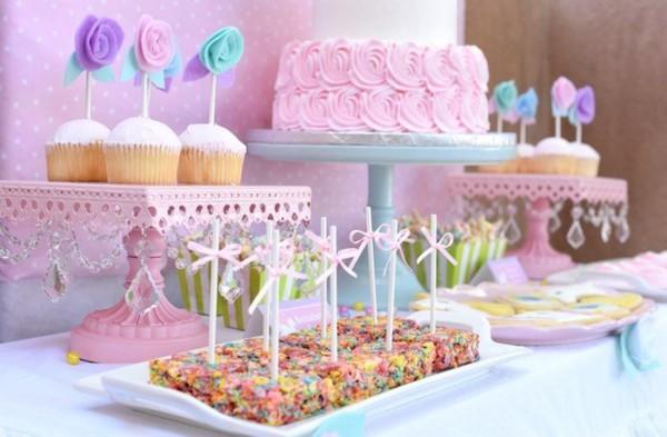 Pastel Unicorn Themed Birthday Party
