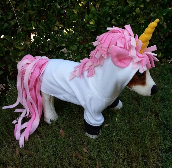 Pink Maned Unicorn Hoodie For Dogs Or Cats