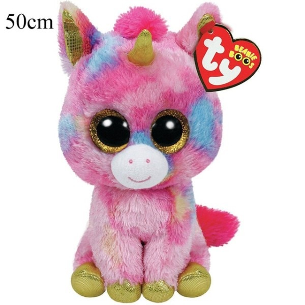 Pyoopeo Ty Beanie Boos 20  50cm Fantasia Pink Unicorn Large Plush
