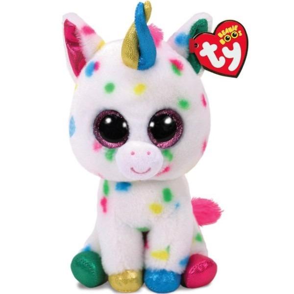 Pyoopeo Ty Beanie Boos 6  15cm Harmonie The Unicorn Plush Regular