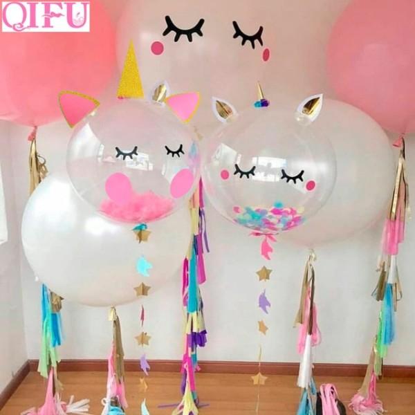 Qifu Pink Unicorn Party Unicorn Balloons Air Balloon Birthday