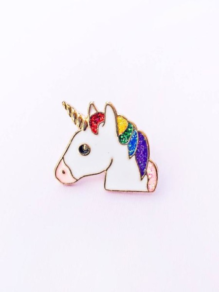 Rainbow Unicorn Enamel Pin Unicorn Pin Lgbt Pin Rainbow