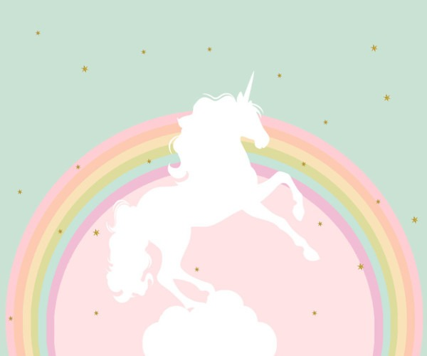Rainbow Unicorn Happy Birthday Photography Backdrops Photo