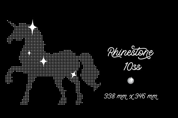 Rhinestone Template Unicorn Design 338x346 Mm 10ss Svg Cut File By