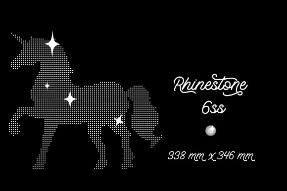 Rhinestone Template Unicorn Design 338x346 Mm 6ss Svg Cut File By