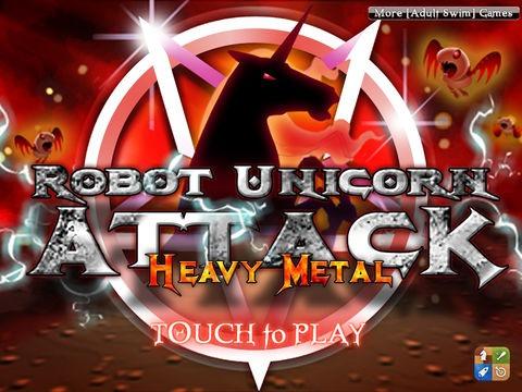 Robot Unicorn Attack Heavy Metal Edition