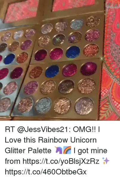 Rt Omg!! I Love This Rainbow Unicorn Glitter Palette 🦄🌈 I Got