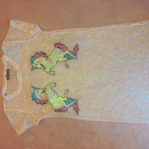 Sparkly Sequinned Kuccia Unicorn Dress  Size 8