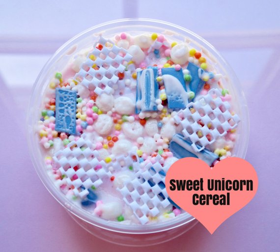 Sweet Unicorn Cereal Slime, Slime Shops, Cereal Slime, Fruit Loops
