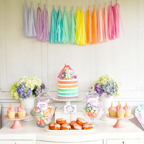 The Cutest Pastel Rainbow Unicorn Party Ideas!