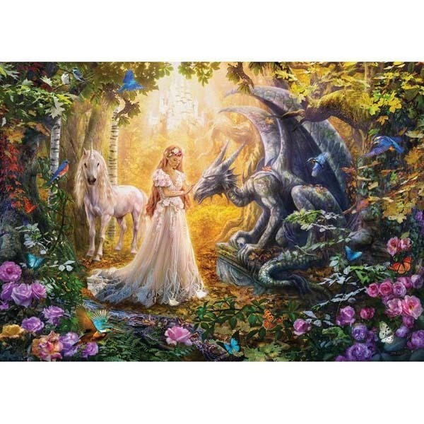 The Dragon The Princess And The Unicorn Jigsaw Puzzle From Jigsaw