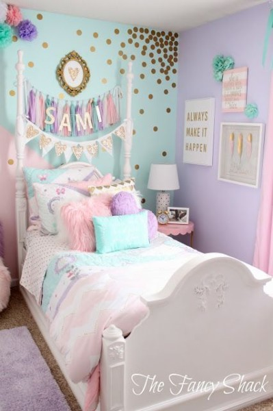 The Fancy Shack  Pastel Girls Room Makeover  Girlsbedroom