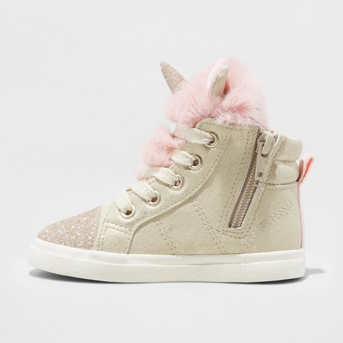 Toddler Girls' Angelynn High Top Unicorn Sneakers