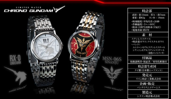Toy Randomness  Citizen Chrono Gundam Uc Watch (unicorn And Sinanju)
