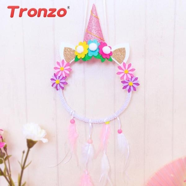 Tronzo Diy Unicorn Boho Dream Catchers Birthday Party Decortions
