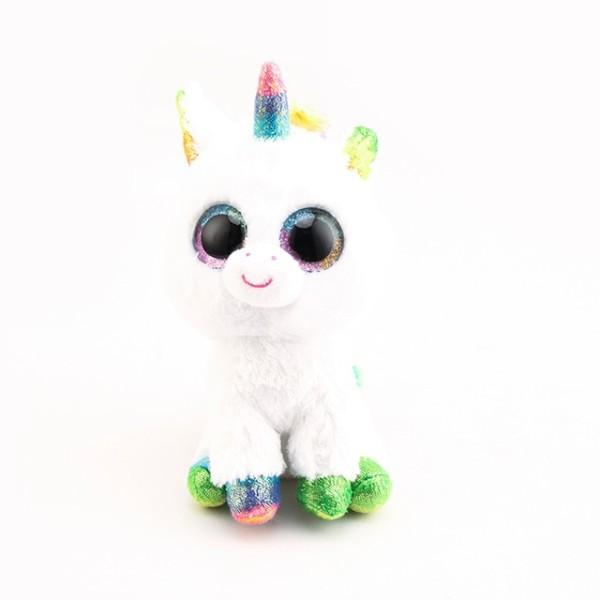 Ty Beanie Boos Big Eyes White Unicorn Plush Toy Doll 10 15cm Ty