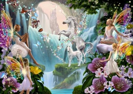 Unicorn And Fairy Waterfall