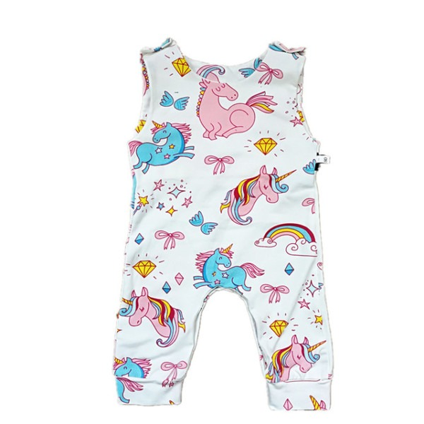 Unicorn Baby Romper Brand Baby Clothes 2018 Summer Girls Jumpsuit