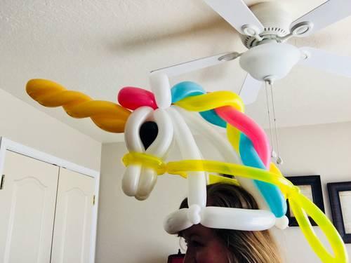 Unicorn Balloon Animal Hat!
