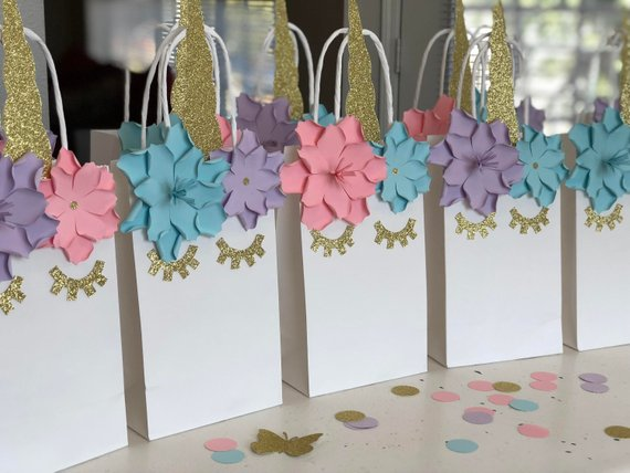 Unicorn Birthday Party Favor Bags Set Of 10  Goodie  Goody