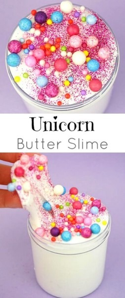 Unicorn Butter Slime Made With Daiso Clay! So Fun For A Birthday