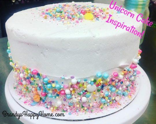 Unicorn Cake For Your Dolls!