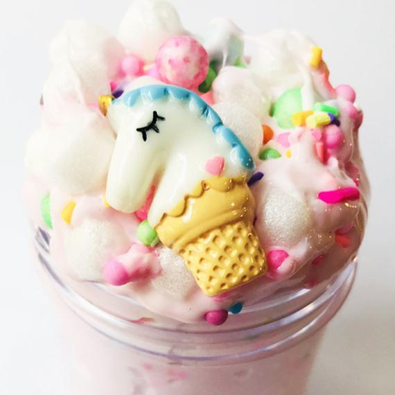 Unicorn Cereal Pink Crunchy Slime W Charm Scented Stretchy