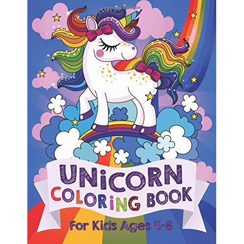 Unicorn Coloring Book  For Kids Ages 4