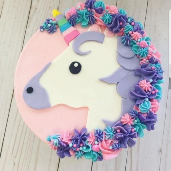 Unicorn Emoji Cake, Food & Drinks, Baked Goods On Carousell