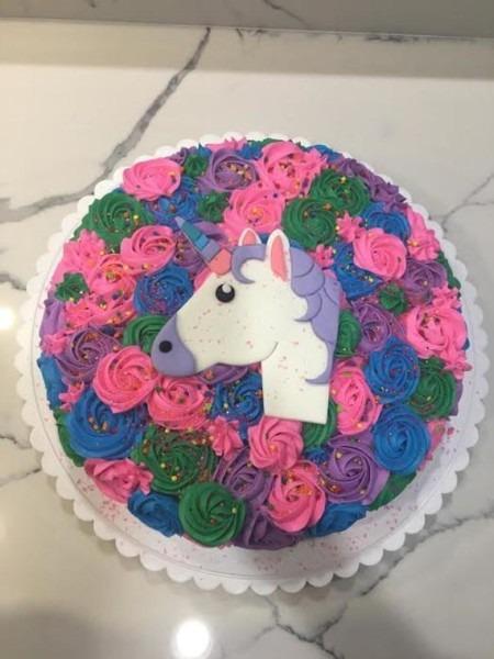 Unicorn Emoji Edible Fondant Cake Topper Decoration