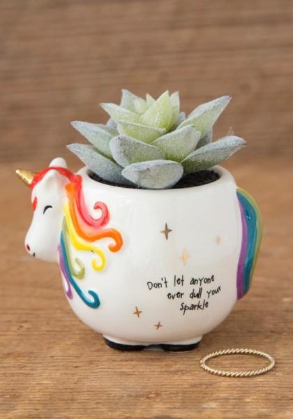 Unicorn Faux Succulent