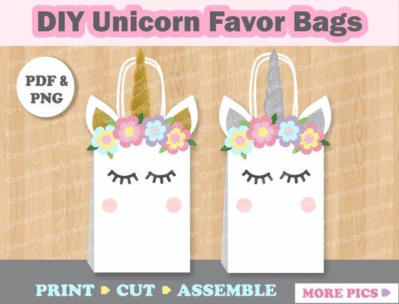 Unicorn Favor Bags  Unicorn Birthday  Unicorn Party Supplies