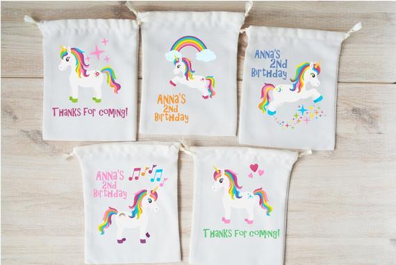 Unicorn Favor Bags Unicorn Party Favors Personalized Party