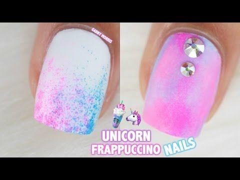 Unicorn Frappuccino Inspired Nails