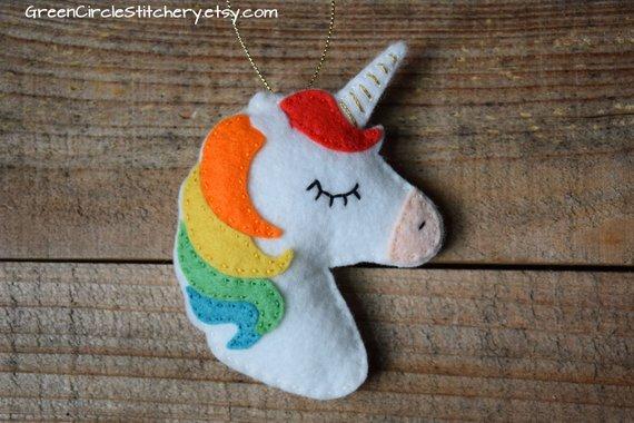 Unicorn Gift Unicorn Ornament Personalized Ornament Rainbow