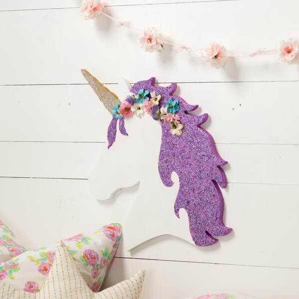 Unicorn Head Wood Cutout
