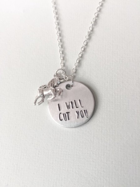 Unicorn Necklace Unicorn Gift Ideas I Will Cut You Unicorn