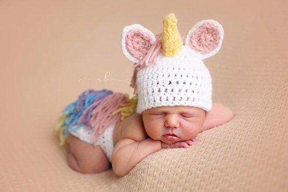 Unicorn Newborn Outfit Photo Prop Newborn Photography Prop