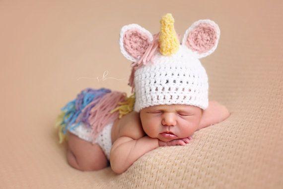 Unicorn Newborn Outfit, Photo Prop, Newborn Photography Prop