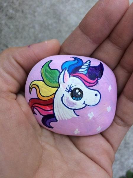 Unicorn Painted Stone