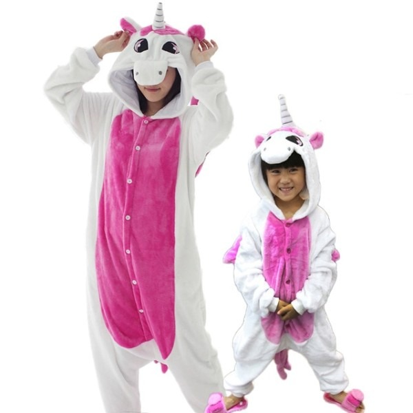 Unicorn Pajamas One Piece Family Matching Outfits Adult Onesie