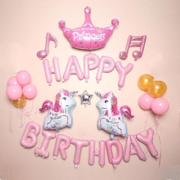 Unicorn Party Supplies Foil Unicorn Balloons Kids Girls Birthday