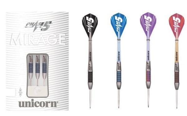 Unicorn Phase 5 Mirage Tungsten Steel Tip Darts