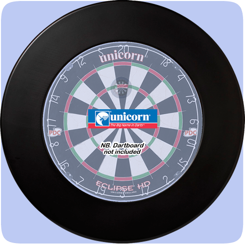 Unicorn Plain Black Dartboard Surround – Pattaya Darts