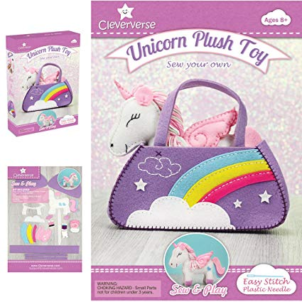 Unicorn Plush Toy Sewing Kit For Girls