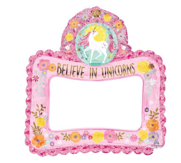 Unicorn Selfie Frame Balloon