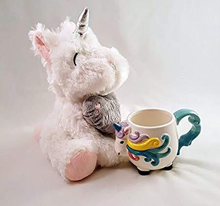 Unicorn Shaped Mug Bundle With Cuddly Unicorn Soft Toy  Amazon Co