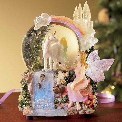 Unicorn, Snow Globe