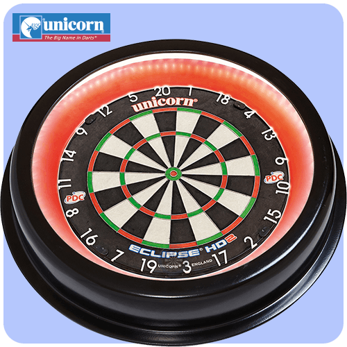 Unicorn Solar Integrated Illuminated Pro Surround Dartboard