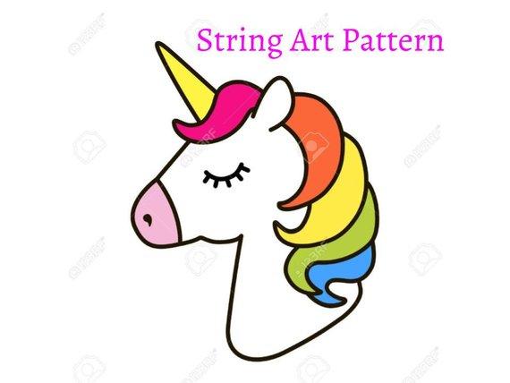 Unicorn String Art Pattern String Art Unicorn Pattern